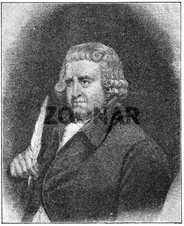 Portrait of Erasmus Darwin - an English physician