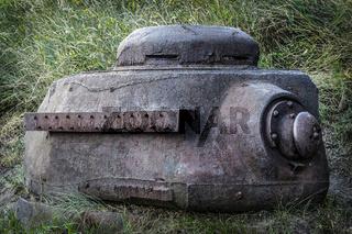 Turret of soviet tank IS-2 in Westerplatte