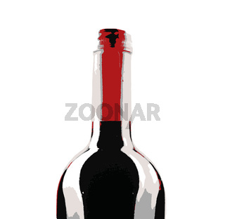 Bottle of red wine isolated on a white background. Red wine is a type of wine made from dark-colored grape varieties