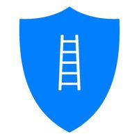 Leiter und Schild - Ladder and shield