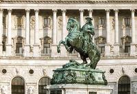 Monument of the Prince Eugene on Heldenplatz in Hofburg, Vienna