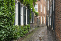 Small lane at the old town of Leer