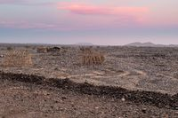 Hut in the remote region of Afar in Ethiopia