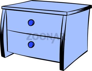 Blue chest icon cartoon
