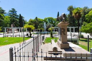 Argentina Mendoza Italy square Roman statue