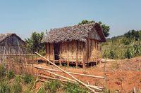 Africa malagasy huts north Madagascar