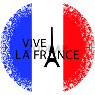 Bastille Day. Eiffel Tower instead of the letter A. Translation of texts in French - long live France