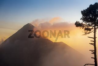 Fuego Volcano Guatemala Sunset
