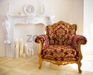 Luxurious vintage armchair