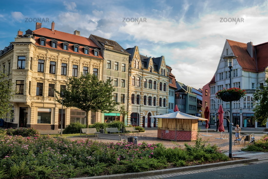 Merseburg, Germany - 06/18/2019 - Market Square in the old town