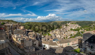 View of the old town of Ragusa Ibla in Sicily, Italy