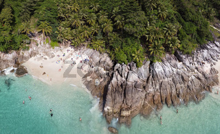 Aerial view of Freedom Beach in Phuket, Thailand