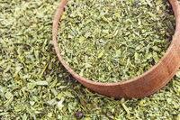 pile of dried basil spice