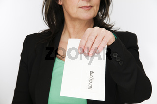 woman with envelope