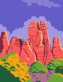 Canyonlands National Park in Moab Utah Utah United States WPA Poster Art Color