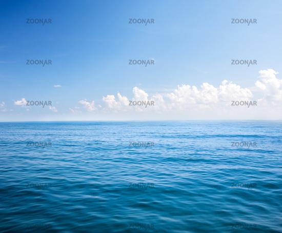 Beautiful sea and cloudy sky