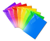 Multi color booklets range mockup on white background