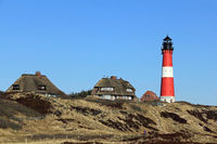 The Lighthouse of Hoernum on the Island of Sylt in Germany