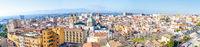 Panoramic view of Cagliari, capital of Sardinia, Italy