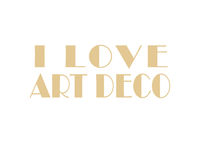 I Love Art Deco Isolated Text