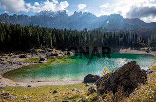 Lake Carezza, South Tyrol Italy