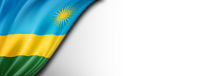 Rwanda flag isolated on white banner