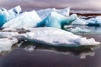 Iceland. The lagoon Jokulsaurloun