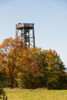 wooden lookout tower enables view over area all around - Austria