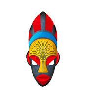 Watercolor tribal mask