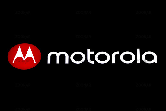 Motorola logo and brand name on black