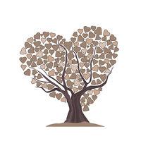 tree made of hearts