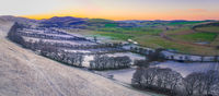 Scottish Winter Panorama Landscape