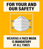 WEAR FACE MASK AT ALL TIMES sign or poster