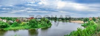Ros river in Bila Tserkva city, Ukraine