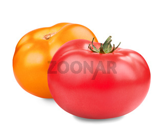 red yellow tomatoes