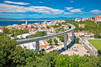 Town of Crikvenica architecture and coastline view