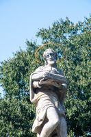 Religous statue in Bratislava Slovakia