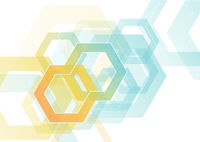 Abstract Hexagonal Background on White