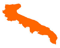Karte von Apulien - Map of Apulia