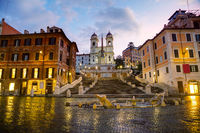 Spanish Steps at Spagna square