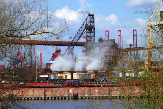 Steelworks in Hamburg Waltershof