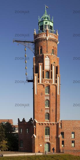 Bremerhaven Lighthouse, Bremerhaven Oberfeuer, New Harbor, Bremerhaven, Bremen, Germany, Europe