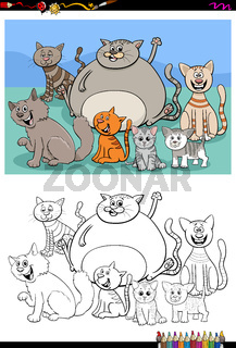 ctas animal characters group color book page