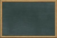 Empty school blackboard illustration. Chalkboard texture with wood frame
