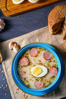 Easter in Polish: sour flour soup for Easter breakfast (Żurek)