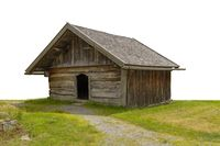 historic small wooden barn