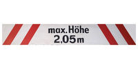 German sign isolated over white. Max height
