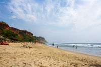 Sand Beach in Varkala, India