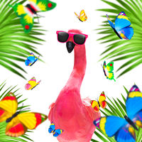 summer paradise vacation flamingo