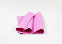 Ribbed pink placemat